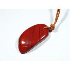 Jaspis czerwony Wisior przewiercony 26p