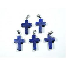 Lapis lazuli Wisior Krzyżyk  1 szt. 87w