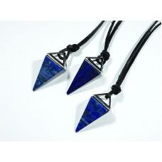 Lapis lazuli Wisior Zawieszka Piramida 1 szt. 121w