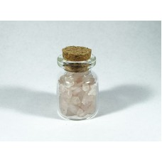 Kwarc różowy Szlifowany Buteleczka 20x30 mm. 1 szt. -6-