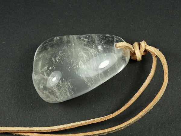 Kryształ górski Wisior przewiercony 32p