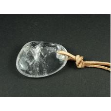 Kryształ górski Wisior przewiercony 33p