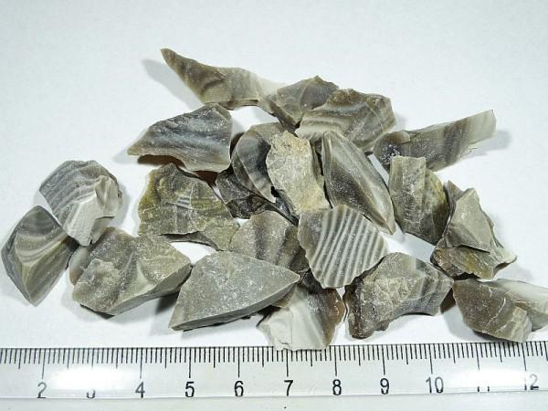 Krzemień pasiasty  Surowy Zestaw 50 g 37 d