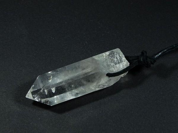 Kryształ górski Wisior przewiercony 14kr