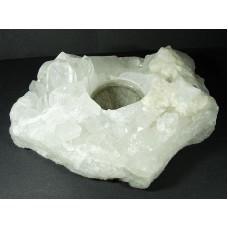 Kryształ górski Świecznik 4 Waga 591 g.